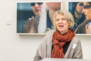 Renate Müller berichtet über ihre Erfahrungen im Workshop eingeschränkte Mobilität