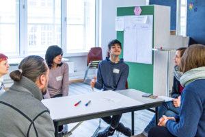 Linus Bade berichtet über ihre Erfahrungen im Workshop eingeschränkte Mobilität