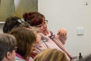 Ulrike Gehn berichtet über ihre Erfahrungen im Workshop eingeschränkte Mobilität
