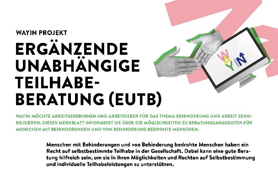 Teaserbild WayIn: Faktenblatt »Ergänzende Unabhängige Teilhabeberatung« (EUTB)